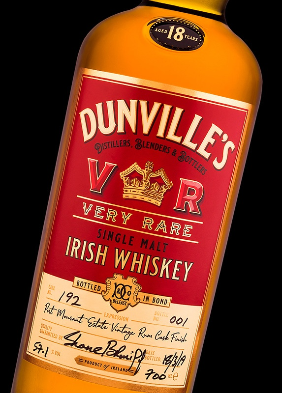 The Studio David Pauley Product photography Dunvilles Whiskey